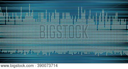 3d Illustration Sound Wave Abstract Music Pulse Background Sound Wave Graph Of Frequency And Spectru