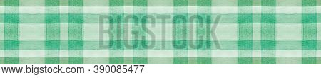 Green Gingham Check. Watercolour Picnic Blanket. Irish Squares For Cloth Print. Seamless Gingham Che