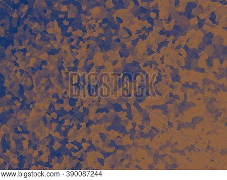 Watercolor Fashion Camouflage. Blue Army Fabric. Camo Illustration. Graphic Hunting Shirt. Fashion C