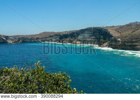 The Cliff Of Tanjung Ringgit, East Lombok. Panoramic View From The Cliff. The Hidden Germ. High Clif
