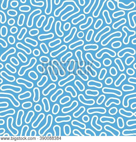 Organic Seamless Pattern. Textile Animal Print. Monochrome Organic Shapes Texture. Abstract Rounded