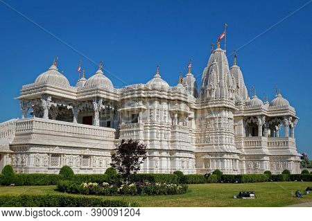 Toronto, Canada - 06 26 2016: The Baps Shri Swaminarayan Mandir In Toronto, Canada Is A Traditional