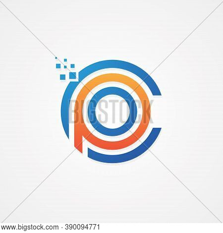 Cpo Initial Letter For Your Best Business Symbol In Modern Style. Technology Letter Symbol Icon Desi