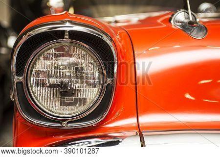 Headlight Lamp Vintage Car. Headlight Lamp Vintage Classic Car.