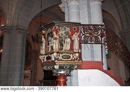 Koblenz, Rhine Valley, Germany - 11 Sep 2015: The Ancient Church, Koblenz, Germany