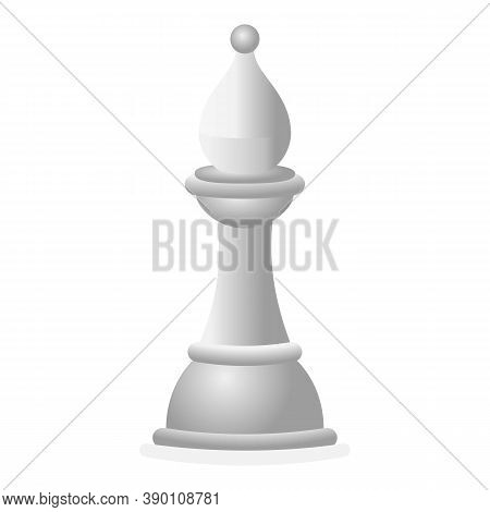 White Chess Knight Icon. Cartoon Of White Chess Knight Vector Icon For Web Design Isolated On White