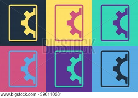 Pop Art Software, Web Development, Programming Concept Icon Isolated On Color Background. Programmin