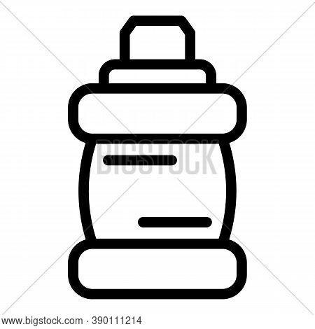 Mouthwash Bottle Icon. Outline Mouthwash Bottle Vector Icon For Web Design Isolated On White Backgro