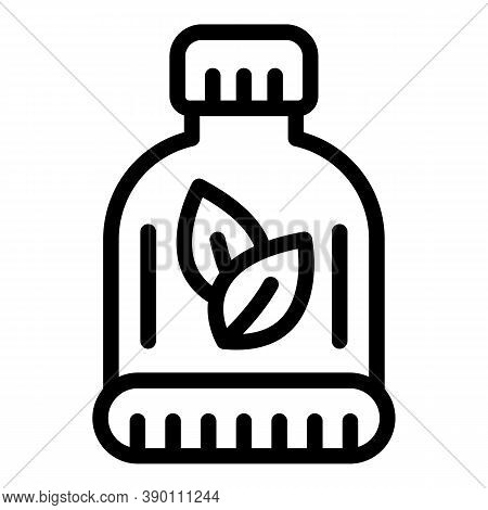 Mint Mouthwash Icon. Outline Mint Mouthwash Vector Icon For Web Design Isolated On White Background