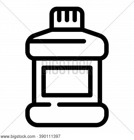 Packaging Mouthwash Icon. Outline Packaging Mouthwash Vector Icon For Web Design Isolated On White B