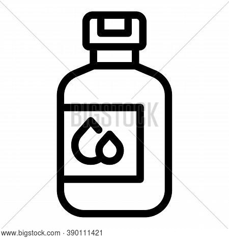 Cosmetic Mouthwash Icon. Outline Cosmetic Mouthwash Vector Icon For Web Design Isolated On White Bac