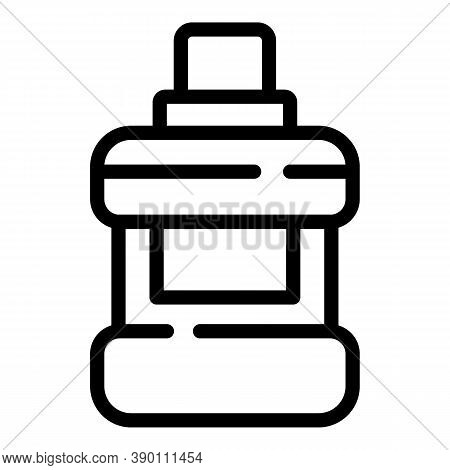 Modern Mouthwash Icon. Outline Modern Mouthwash Vector Icon For Web Design Isolated On White Backgro