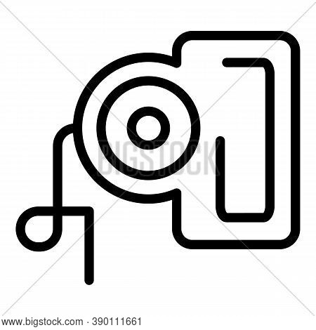 Retractable Collar Leash Icon. Outline Retractable Collar Leash Vector Icon For Web Design Isolated