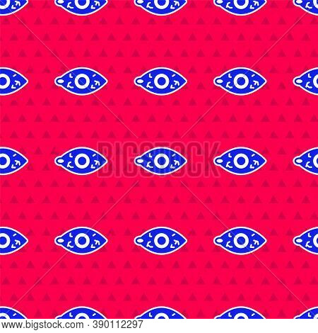 Blue Reddish Eye Due To Viral, Bacterial Or Allergic Conjunctivitis Icon Isolated Seamless Pattern O
