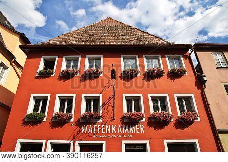 Rotenburg On Tauber, Bavaria, Germany - 12 Sep 2015: The Vintage House In Rotenburg On Tauber In Ger