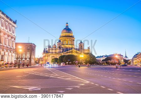 Saint Isaac Cathedral In St. Petersburg, Russia