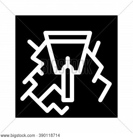 Wall Gaps Plaster Glyph Icon Vector Illustration