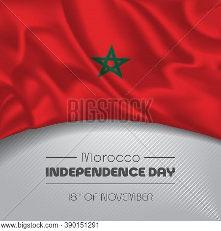 Morocco Happy Independence Day Greeting Card, Banner Vector Illustration
