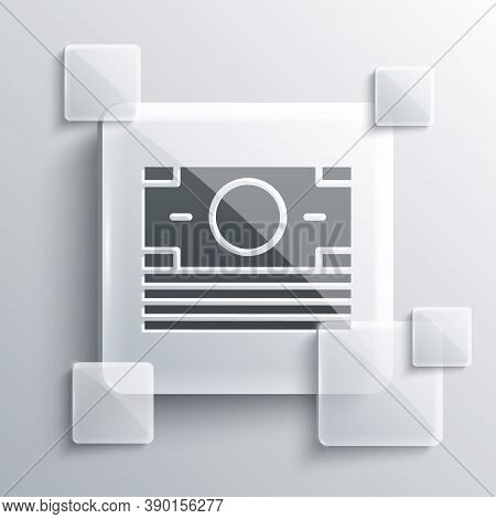 Grey Stacks Paper Money Cash Icon Isolated On Grey Background. Money Banknotes Stacks. Bill Currency