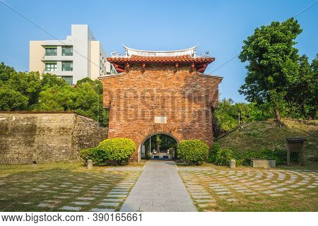 Jingpo Gate, Aka Lesser West Gate In Tainan, Taiwan. The Translation Of The Chinese Text Is Lesser W