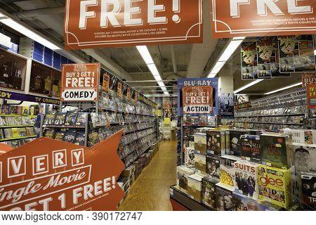 Brisbane, Australia - March 22nd, 2020: A Large Scale Sale At A Dvd Movie Store In Brisbane, Austral