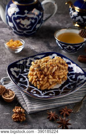 Traditional Azian Cake Chuk Chuk With Honey And Nuts