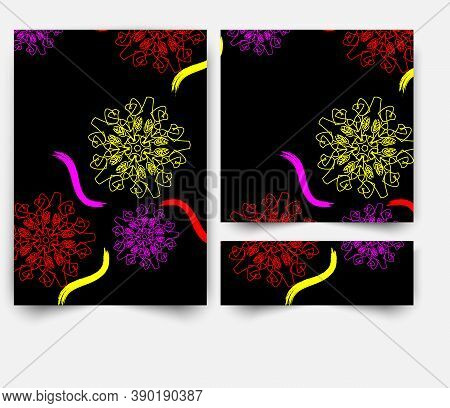 Abstract Background Geometric Pattern, Vector Circle, Graceful Lines Color Art Design.