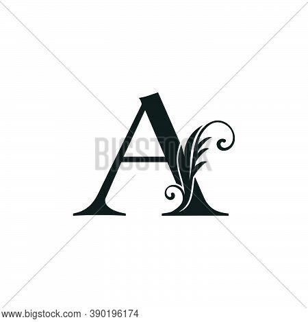 Monogram Initial Letter A Luxury Logo Icon, Luxurious Vector Design Concept Alphabet Letter For Vint