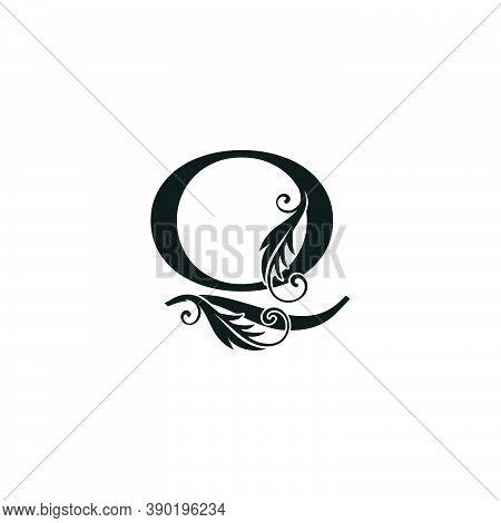 Monogram Initial Letter Q Luxury Logo Icon, Luxurious Vector Design Concept Alphabet Letter For Vint