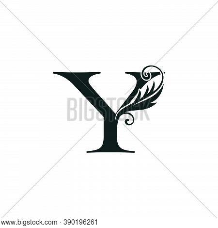 Monogram Initial Letter Y Luxury Logo Icon, Luxurious Vector Design Concept Alphabet Letter For Vint