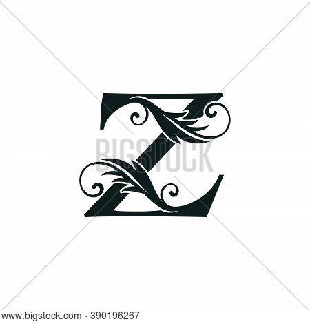 Monogram Initial Letter Z Luxury Logo Icon, Luxurious Vector Design Concept Alphabet Letter For Vint