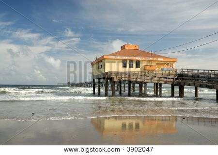 Bob Hall pier on Padre Island Southern Texas USA poster