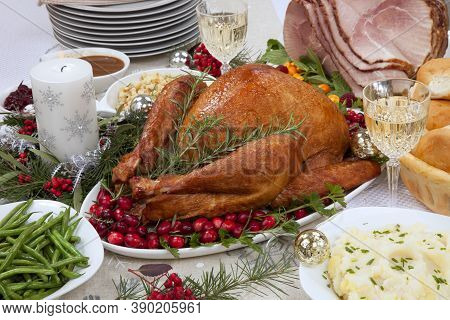 Christmas Smoked Turkey And Ham