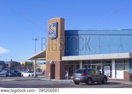 Calgary Alberta, Canada. Oct 17, 2020. The Royal Bank Of Canada Is A Canadian Multinational Financia