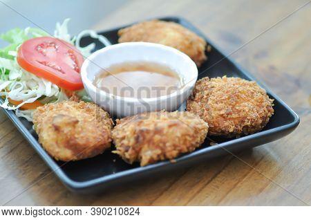Shrimp Ball , Deep Fried Shrimp Ball Or Fried Shrimp Ball