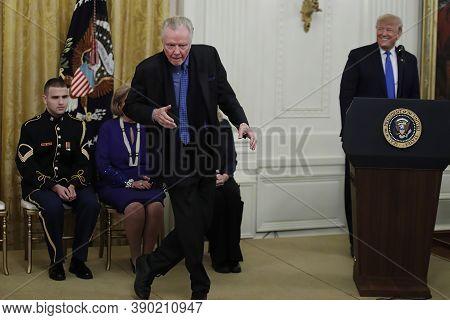 White House Ceremony November 1, 2019, 3:16 Pm Jon Voight And President Trump On During Thursday's N