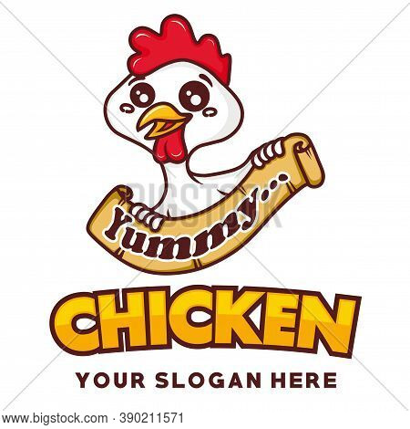 Chicken Mascot, Chicken, Fried Chicken Logo Vector