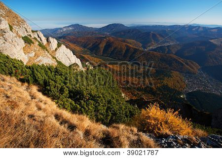 Autumn landscape in Bucegi Mountains, Romania, Europe