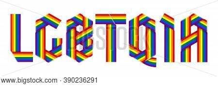 Initialism Lgbtqia Of Lesbian, Gay, Bisexual, Transgender, Queer, Intersex, And Asexual. Text Made O