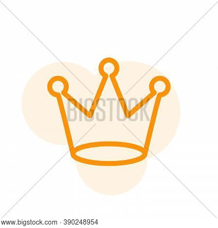 Vector, Illustration Of Crown Icon Design Template
