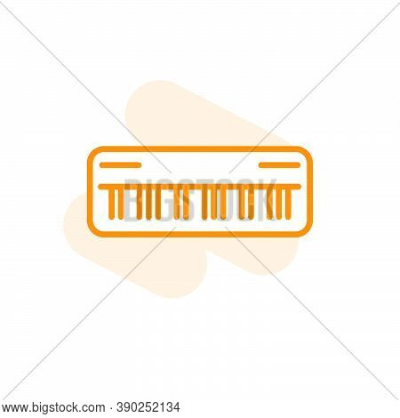 Vector Illustration, Keyboard ( Synthesizer ) Icon Design Template