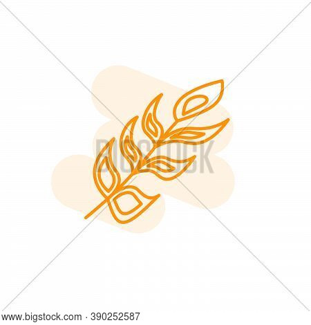 Vector Illustration Of Feather Icon Design Template