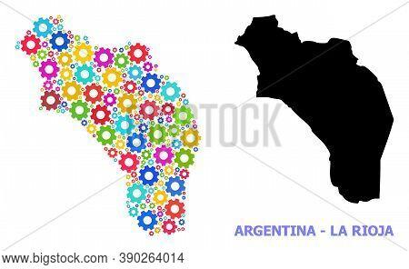 Vector Mosaic Map Of Argentina - La Rioja Combined For Engineering. Mosaic Map Of Argentina - La Rio