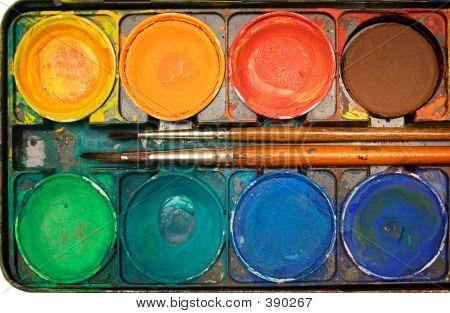 Box Of Watercolors (top View)
