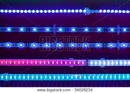 cintas de luz LEDs azules