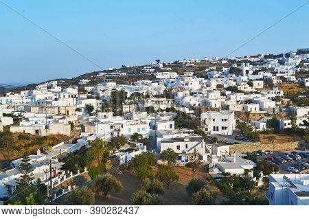 Landscape Of Apollonia Village Sinfos Island Cyclades Greece
