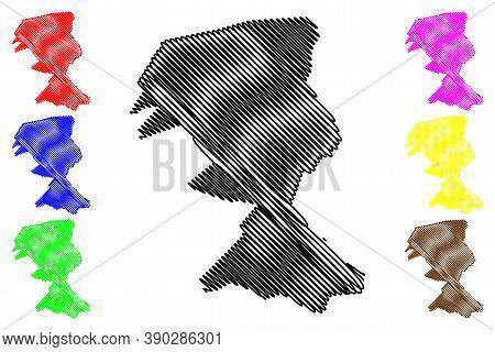 El Alto City (plurinational State Of Bolivia, La Paz Department) Map Vector Illustration, Scribble S