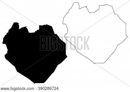 South Kordofan State (republic Of The Sudan, North Sudan) Map Vector Illustration, Scribble Sketch S