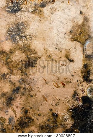 Grunge metal plate texture background.