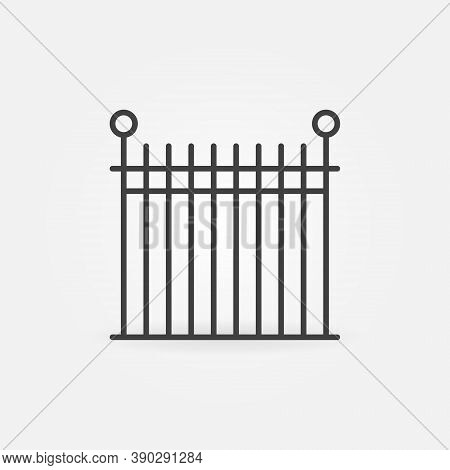 Wrought Iron Fencing Vector Concept Icon Or Sign In Outline Style